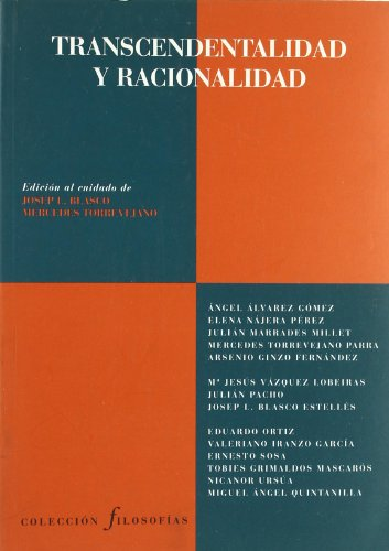 9788481913521: Transcendentalidad y racionalidad