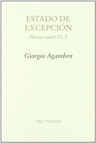 9788481916256: Estado de excepción : homo sacer II, 1