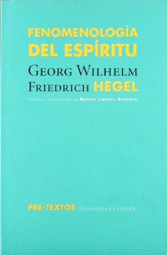 9788481917642: Fenomenología del espíritu (Filosofías / Clásicos)
