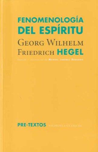 9788481919790: Fenomenología del espíritu (Filosofías / Clásicos)