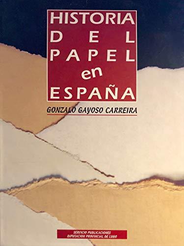 9788481920031: Historia del papel en España. 3vols