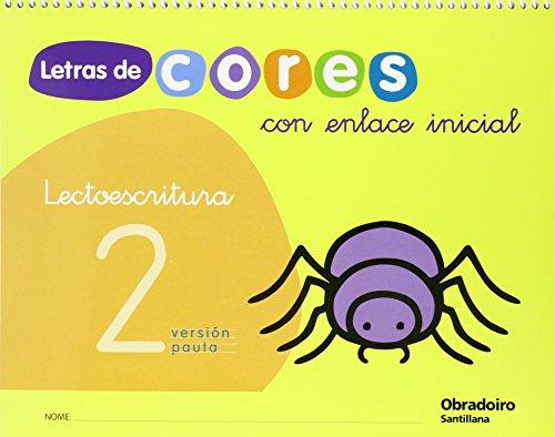 9788482248455: Letras de Cores 2 Con Enlace Inicial Cad Lectroescritura Version Pauta Gallego Obradoiro - 9788482248455