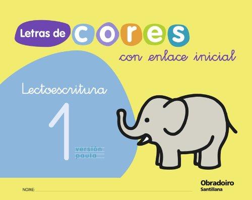 9788482249452: Letras de Cores Con Enlace Inicial Cad Lectoescritura 1 Version Pauta Gallego Obradoiro - 9788482249452