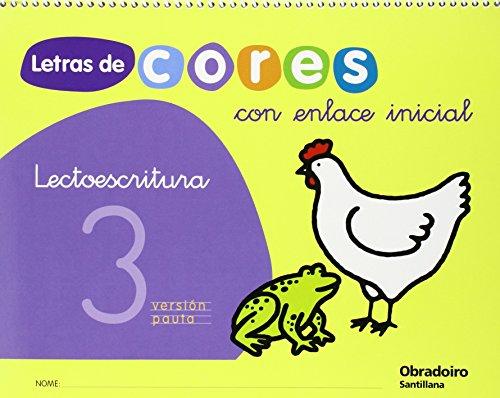 LETRAS DE CORES LECTOESCRITURA 3 CON ENLACE: Varios autores