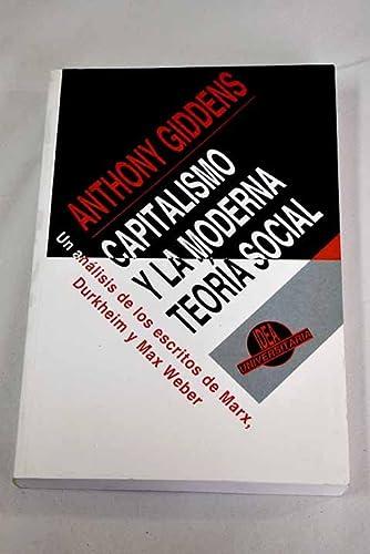 9788482360218: Capitalismo y la moderna teoria social (Universitaria)