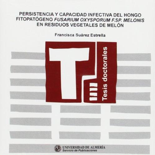 9788482405117: Persistencia y capacidad infectiva del hongo fitopatógeno fusarium oxysporum, f. Sp. Melonis en residuos vegetales de melón (Tesis Doctorales (Edición Electrónica))