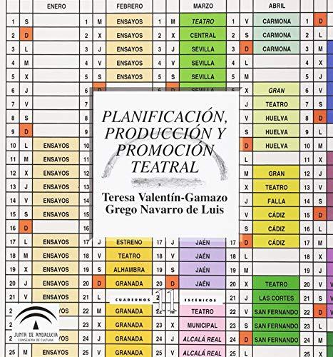9788482665382: Planificación, producción y promoción teatral