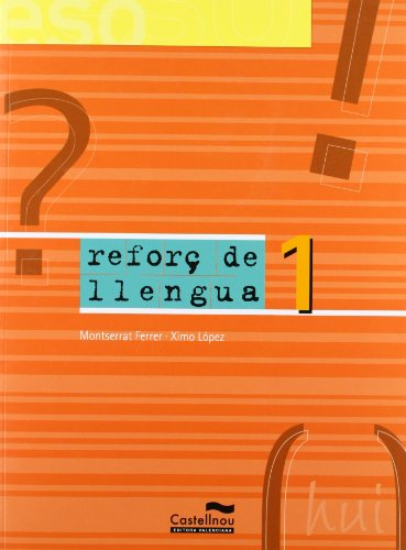 9788482874814: Reforç de llengua 1 (Versió Comunitat Valenciana)