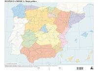 9788482891705: Mapa político España (Mapas mudos)