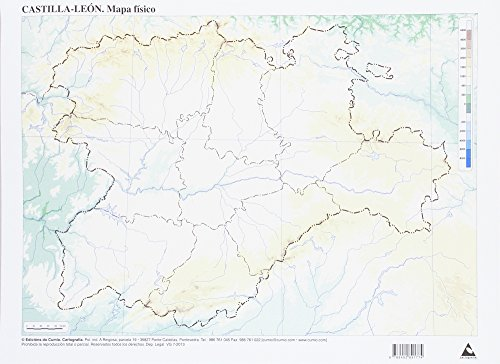 Mapa Fisico Castilla Leon By Edicions Do Cumio Cumio