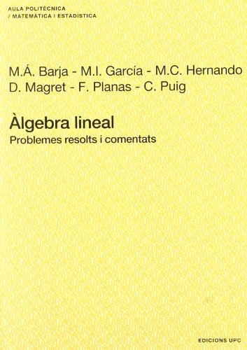 9788483015575: Álgebra lineal : problemes resolts i comentats