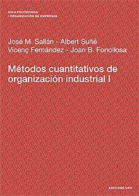 9788483017951: Mtodos Cuantitativos de Organizacin Industrial I (Spanish Edition)