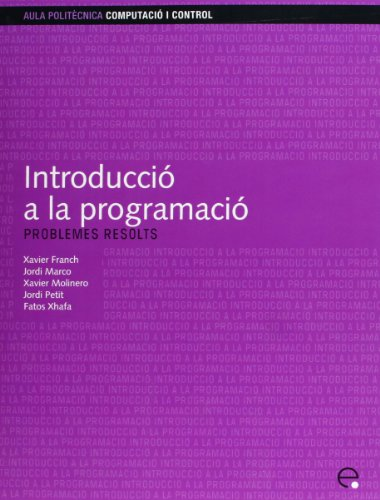 9788483018811: Introducci a la Programaci. Problemes Resolts (Catalan Edition)