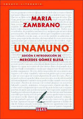 9788483069707: Unamuno (Ensayo Literario / Literary Essay) (Spanish Edition)