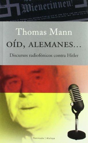 9788483075937: OID, ALEMANES... DISCURSOS RADIOFONICOS CONTRA HITLER
