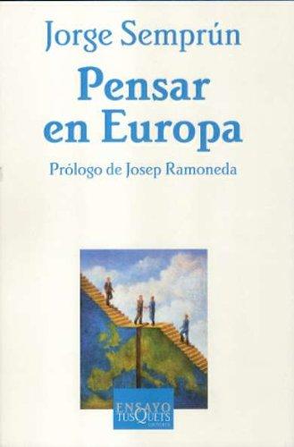 9788483104491: Pensar en Europa (Ensayo)