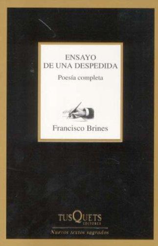 9788483105467: Ensayo de una despedida: Poesía completa (1960-1997) (Marginales)
