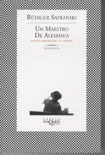 9788483108666: Un maestro de Alemania: Martin heidegger y su tiempo (FÁBULA)