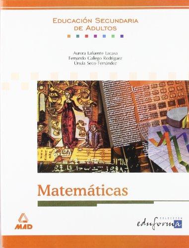 9788483115107: Matemáticas. Educación secundaria de adultos. (Educ. Secundaria Adultos)