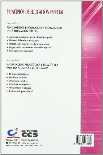 PRINCIPIOS DE EDUCACION ESPECIAL: SANCHEZ MANZANO, ESTEBAN