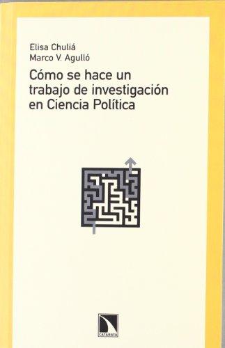 9788483196885: Cómo se hace un trabajo de investigación en Ciencia Política (Mayor)
