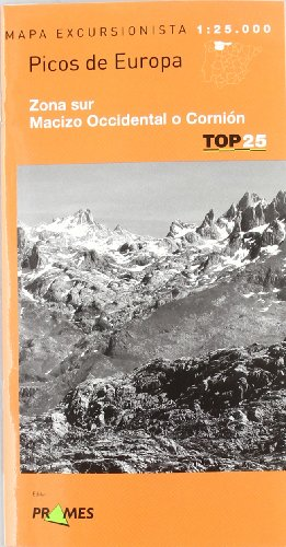 9788483213568: Mapa picos de Europa - zona sur - macizo occidental o cornion (Top 25 (prames))
