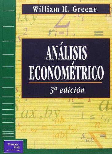 Analisis Econometrico (Spanish Edition): Greene, Willia H.