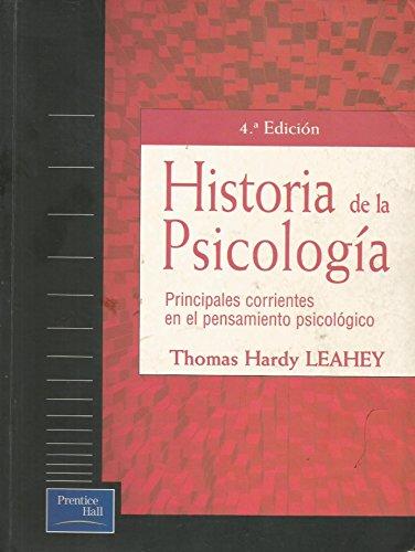 9788483220368: Historia de La Psicologia - 4 Edicion (Spanish Edition)