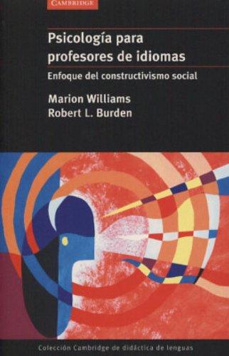 9788483230510: Psicología para profesores de idiomas: Enfoque del constructivismo social (Coleccion Cambridge De Didactica De Lenguas)