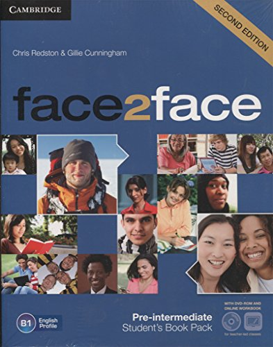 9788483232576: face2face for Spanish Speakers Pre-intermediate Student's Pack(Student's Book with DVD-ROM, Spanish Speakers Handbook with Audio CD,Online Workbook)