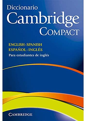 9788483234754: Diccionario Bilingue Cambridge Spanish-English Paperback with CD-ROM Compact Edition
