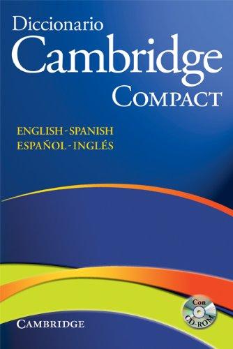 9788483234778: Diccionario Bilingue Cambridge Spanish-English Paperback with CD-ROM Compact edition