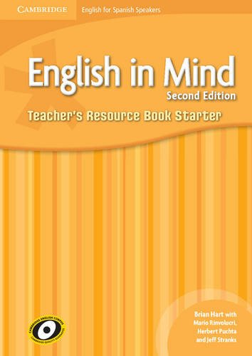 9788483235386: English in Mind for Spanish Speakers Starter Level Teacher's Resource Book with Audio CDs (3)