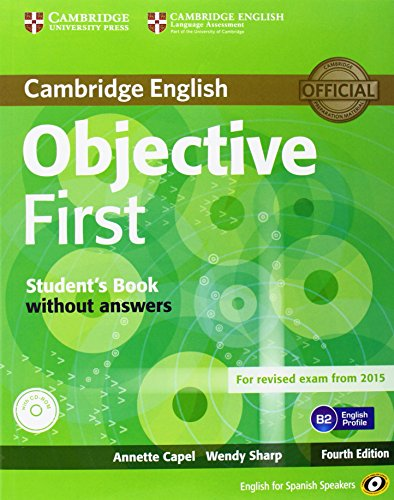9788483236888: Objective First for Spanish Speakers Student's Book without Answers with CD-ROM with 100 Writing Tips 4th Edition