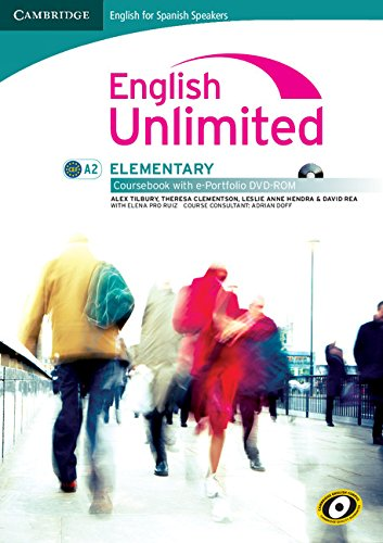 9788483237069: English unlimited for spanish speakers elementary coursebook with e-portfolio (Edición para España)