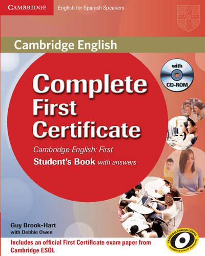 9788483237229: Complete First Certificate for Spanish Speakers Student's Book with Answers with CD-ROM