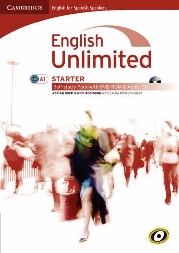 9788483237250: English unlimited for spanish speakers starter self-study pack (workbook with dvd-rom and audio cd) (Edición para España)