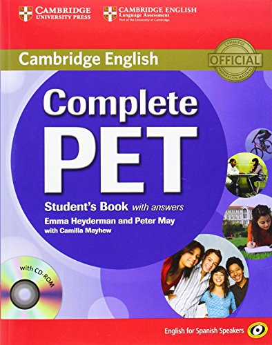 9788483237434: Complete PET for Spanish Speakers Student's Book with Answers with CD-ROM