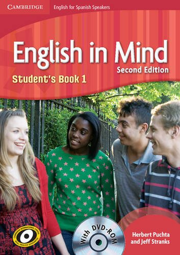 9788483237908: English in Mind for Spanish Speakers 1 Student's Book with DVD-ROM