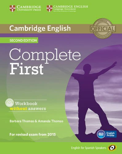 9788483238172: Complete First for Spanish Speakers Workbook without Answers with Audio CD Second Edition