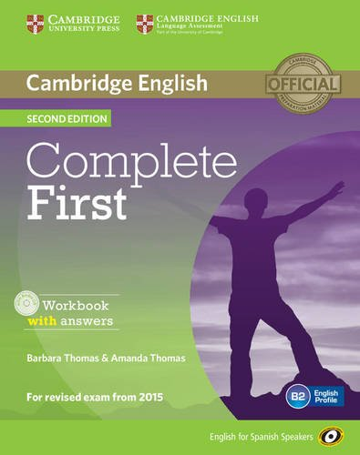 9788483238233: Complete First for Spanish Speakers Workbook with answers with Audio CD Second Edition