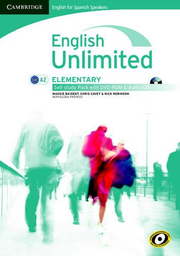 9788483239797: English unlimited for spanish speakers elementary self-study pack (workbook with dvd-rom and audio cd) (Edición para España)