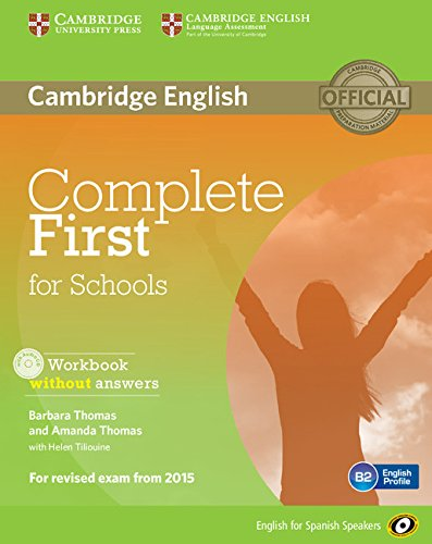 9788483239803: Complete First for Schools for Spanish Speakers Workbook without Answers with Audio CD