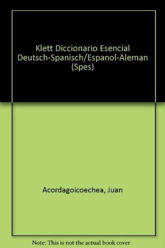 Taschenworterbuch Deutsch-spanisch/espanol-aleman Klett-vox (Spes): Juan Acordagoicoechea, Anke