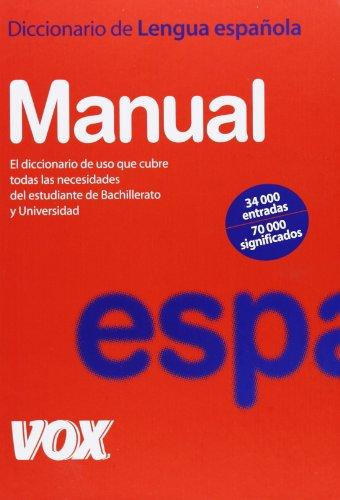 9788483321058: Diccionario Manual de la Lengua Española (Vox - Lengua Española - Diccionarios Generales)