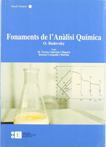 9788483380338: Fonaments De L'Analisi Quimica