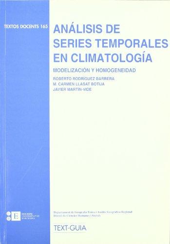 Análisis de series temporales en climatología. Modelización: Martín Vide, Javier;
