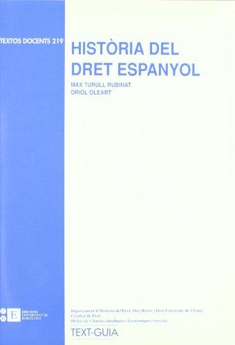 9788483382448: Historia Del Dret Espanyol