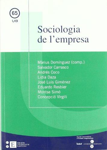 9788483383971: Sociologia De L'Empresa