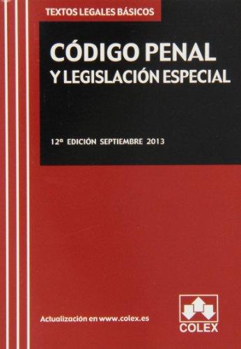 9788483423783: Código penal y legislación especial
